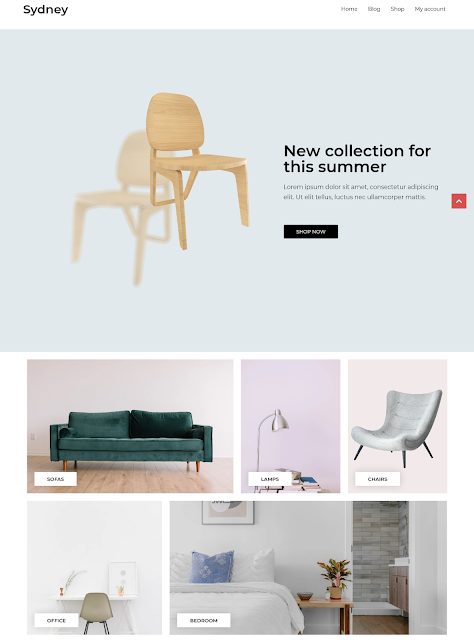 Sydney | Best Free Ecommerce Themes For Wordpress Online Store