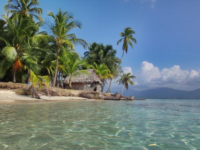 Playa de Guna Yala en las Islas San Blas
