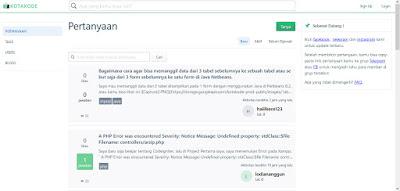Website Kotak Kode Mirip Stackoverflow