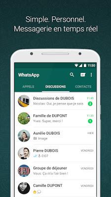Télécharger WhatsApp Messenger Apk pour android gratuit la dernière édition .