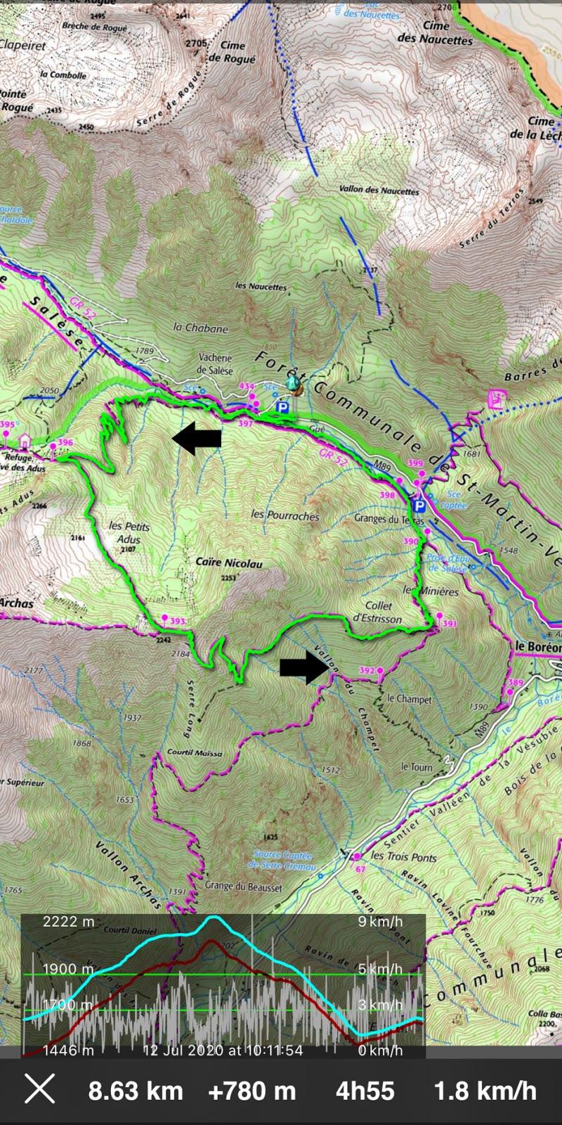 Boréon forest loop track