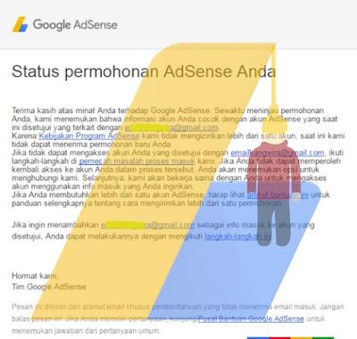 Solusi Mendaftar Google Adsense tidak jelas digantung