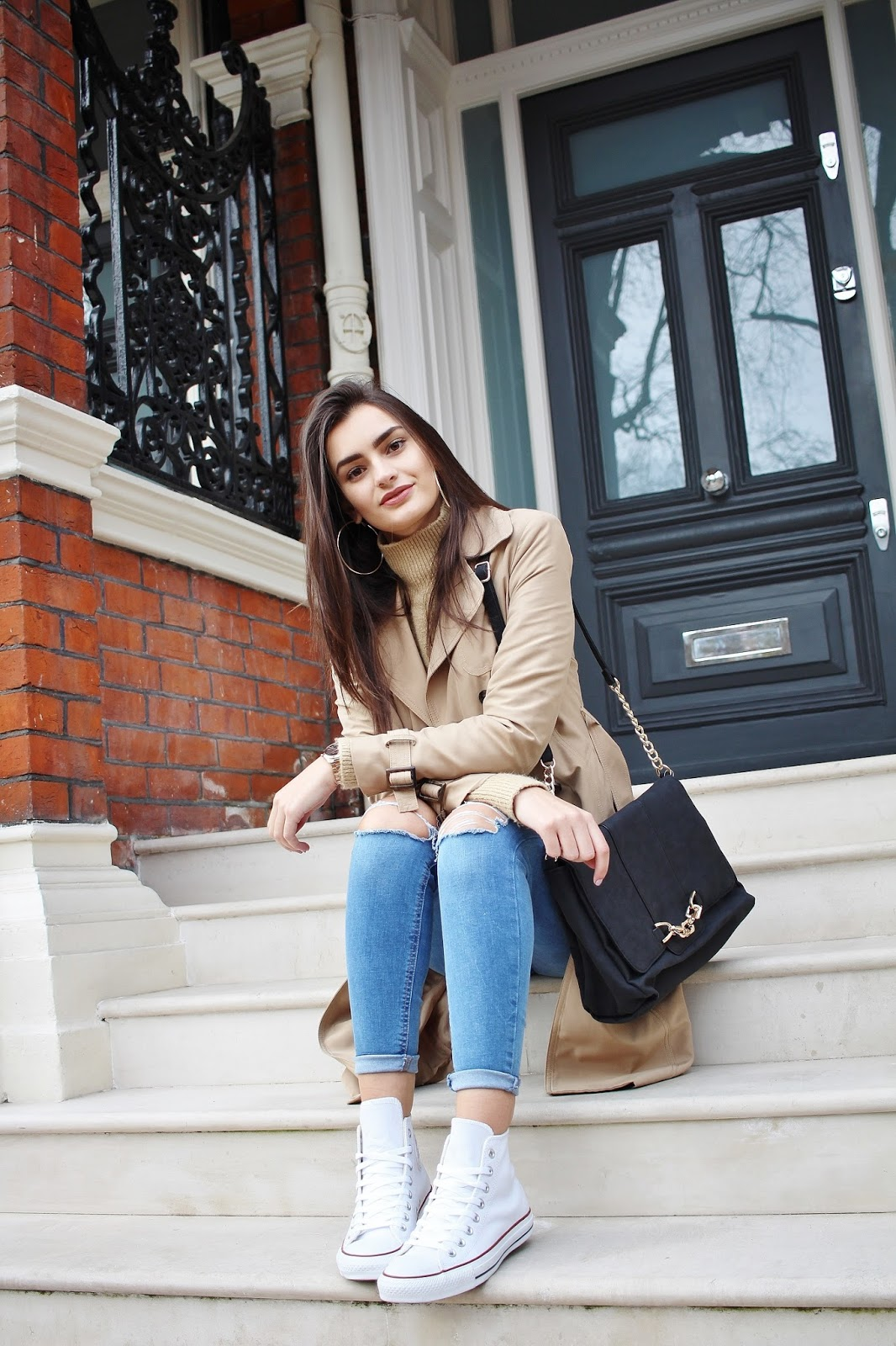 transitional trench coat peexo blogger