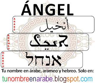 Angel en hebreo para tatuajes