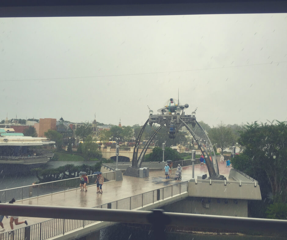 A rain storm in Magic Kingdom, Walt Disney World