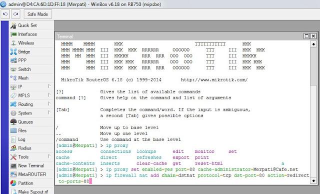 IP Firewall NAT Proxy