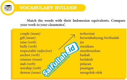 Kunci Jawaban Bahasa Inggris Chapter 12, Halaman 156, Vocabulary Builder Kelas 10