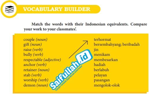 Kunci Jawaban Bahasa Inggris Chapter 12 Halaman 156 Vocabulary Builder Kelas 10 Saifullah Id