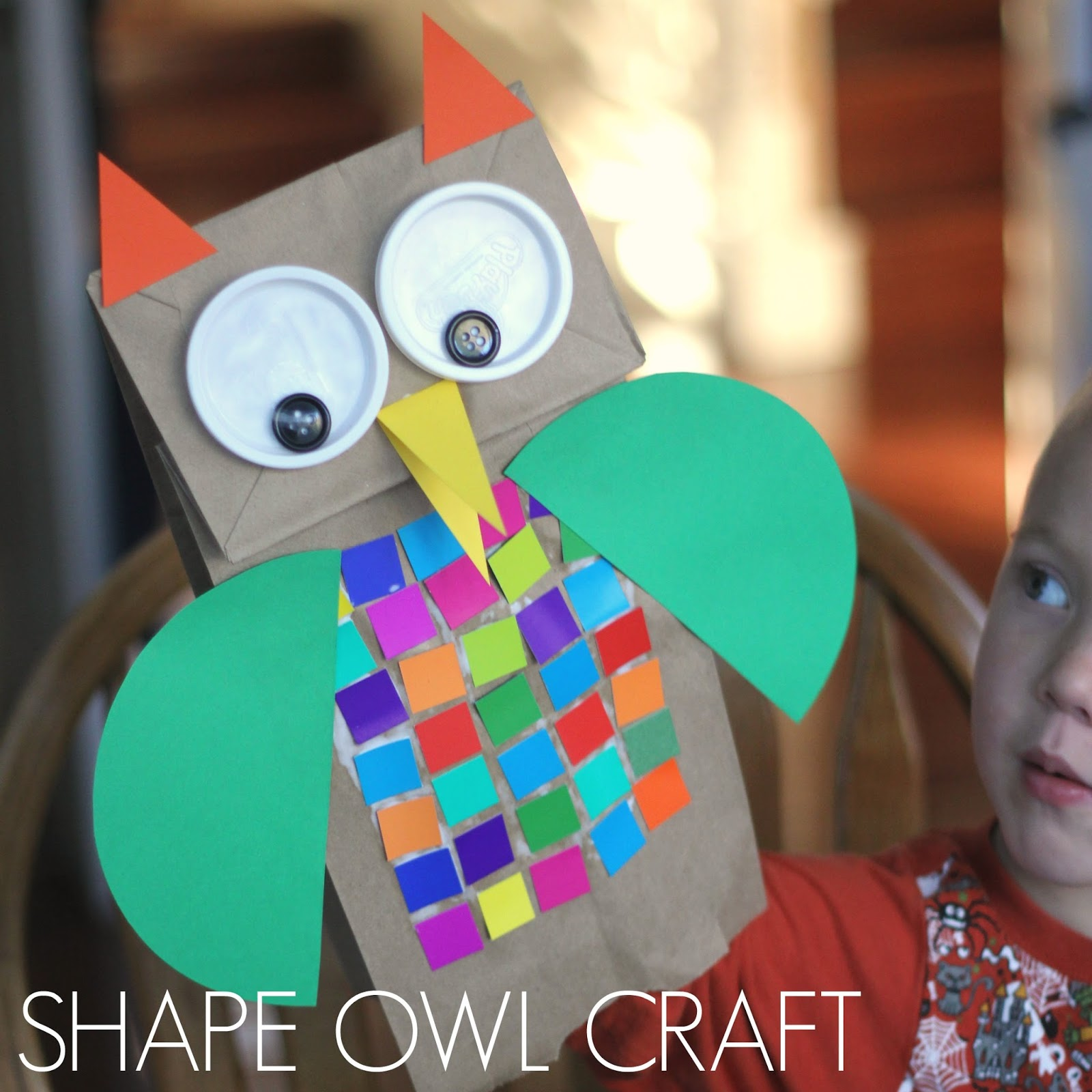 Toddler approved colorful shape owl craft for kids our featured book this week is owl babies by martin waddell and we decided to do an owl themed puppet craft to go along with the book jeuxipadfo Image collections