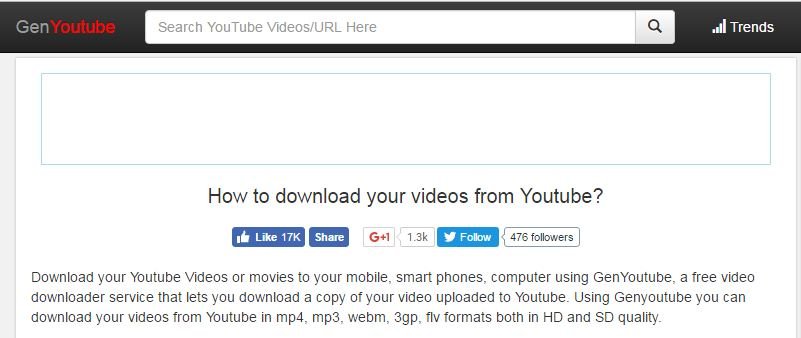genyoutube video download