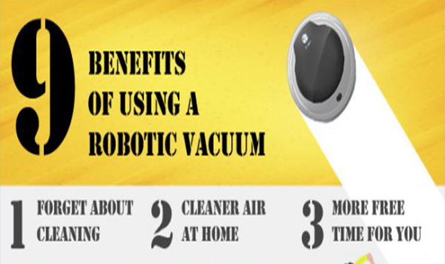 9 Benefits of Using a Robotic Vacuum #infographic