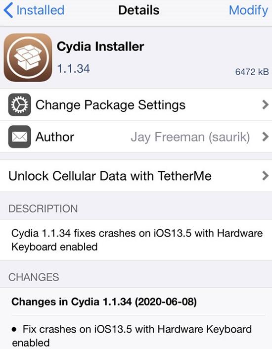 Cydia 1.1.34 Installer