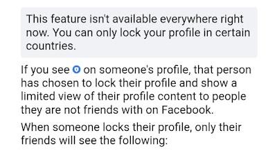 How to lock fb profile