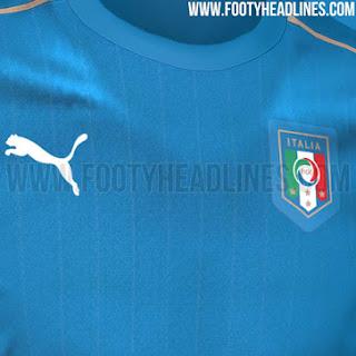 Detail lambang Puma dan Itaia di jersey Timnas Italia home Euro 2016 berita bocoran jersey di enkosa sport toko online terpercaya lokasi di jakarta pasar tanah abang