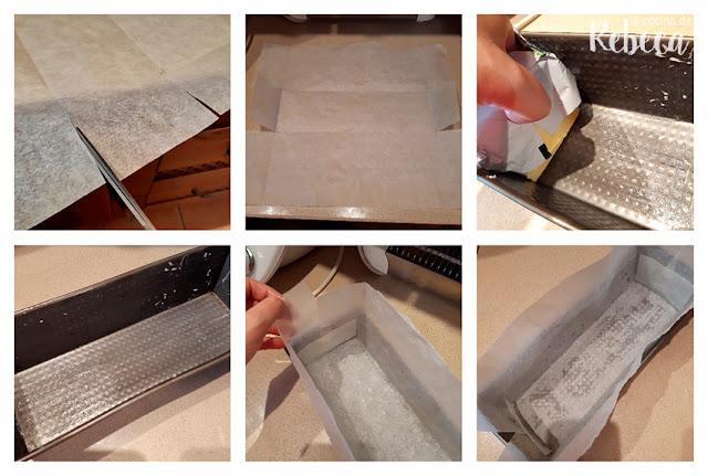 Cómo encamisar un molde rectangular para bizcocho 02