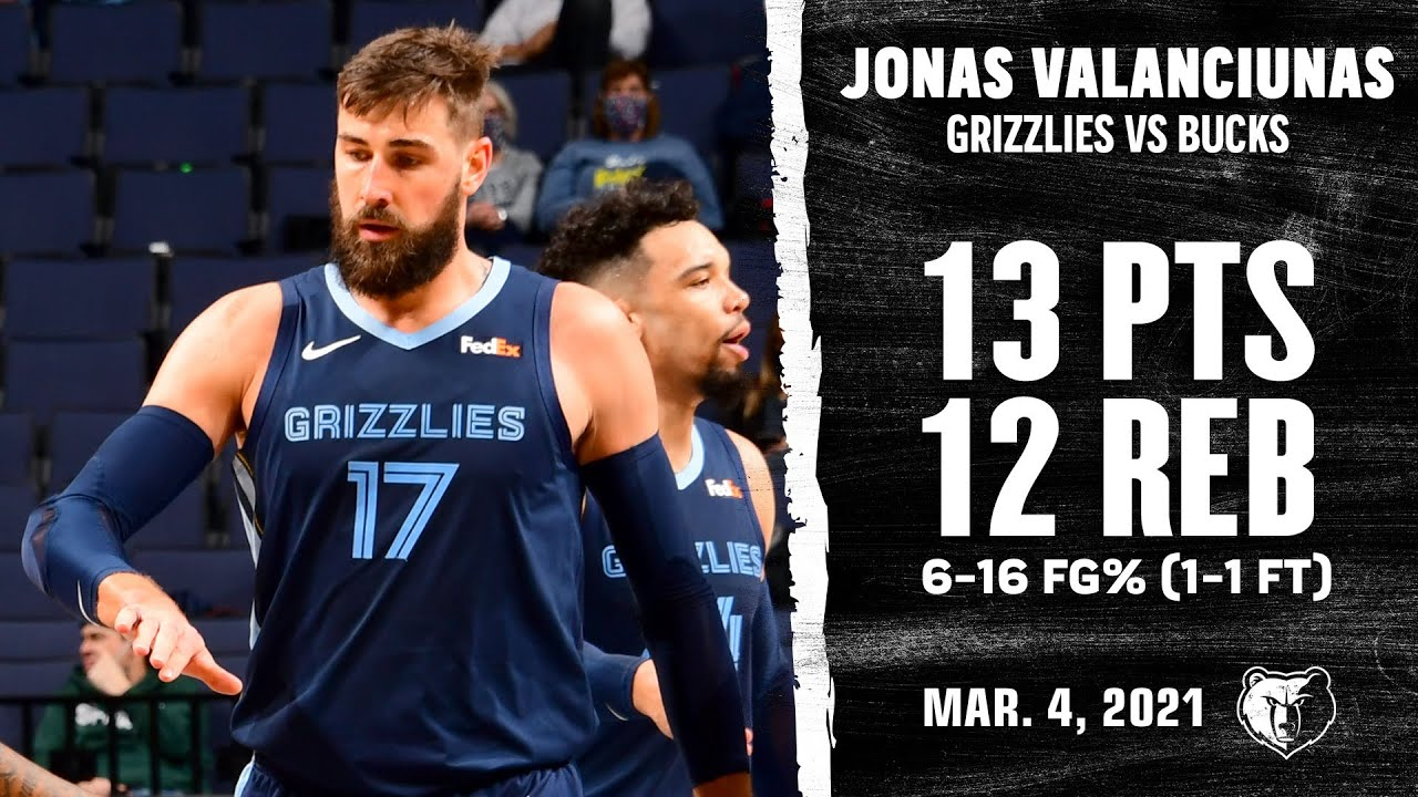 Jonas Valanciunas 13pts 12reb vs MIL | March 4, 2021 | 2020-21 NBA Season