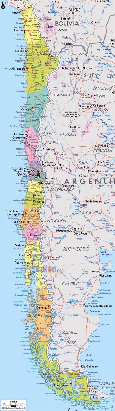 Mapas do Chile
