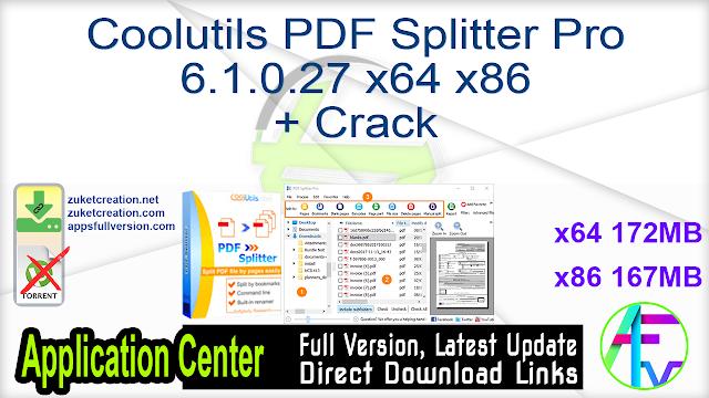 Coolutils PDF Splitter Pro 6.1.0.27 x64 x86 + Crack