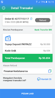 Cara Refund Dana Di Payfazz