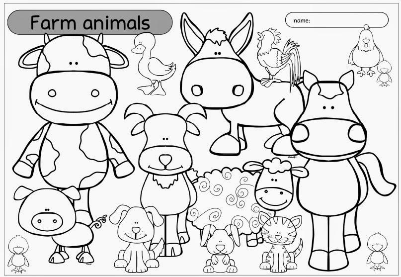 ideenreise ausmalbild farm animals. Black Bedroom Furniture Sets. Home Design Ideas