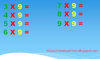 gambar perkalian angka 9 dihafal
