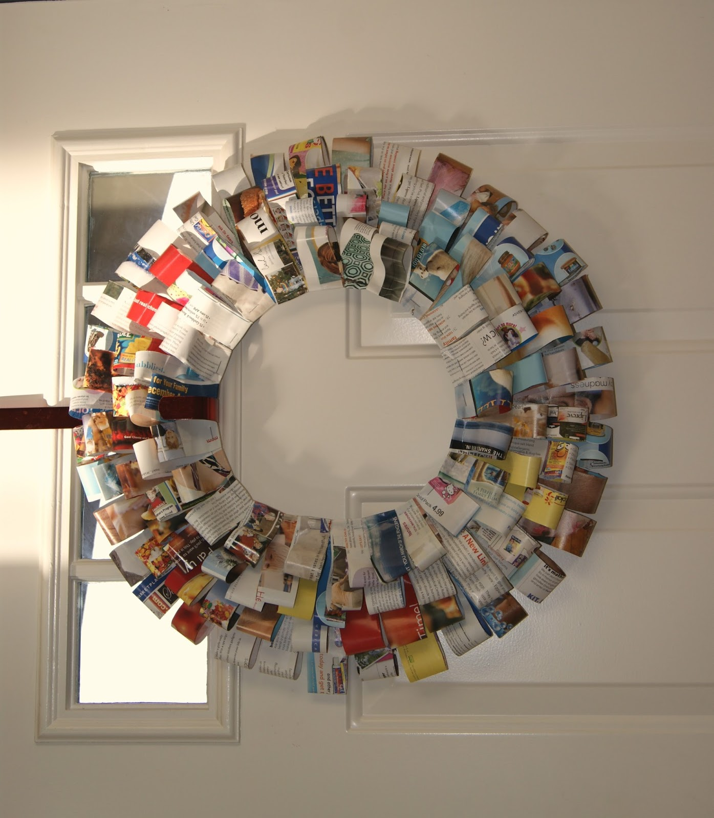 magazine wreath from Simple Joys