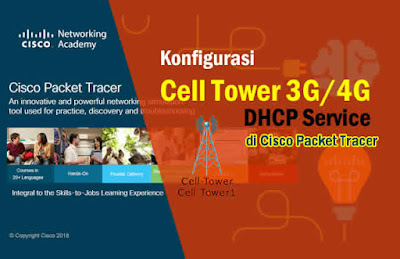 Cara Konfigurasi Cell Tower ISP 3G/4G Router DHCP di Packet Tracer