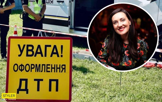 Соломія Вітвіцька потрапила в ДТП у Києві: авто влетіло під самоскид