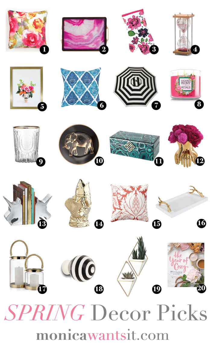 20 spring decor picks that are unique, affordable and chic for your home via monicawantsit.com