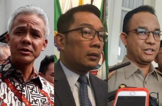 Survei Indikator: Elektabilitas Ganjar dan RK Melejit, Anies Turun Karena Corona
