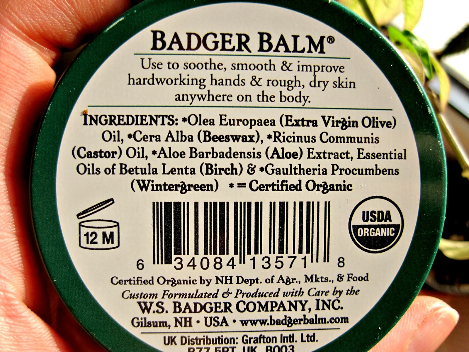 badger balm ingredients hands company hardworking grail fastest addition holy immense form another plus