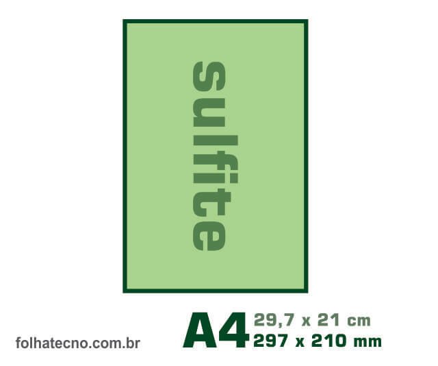 medidas do papel A4