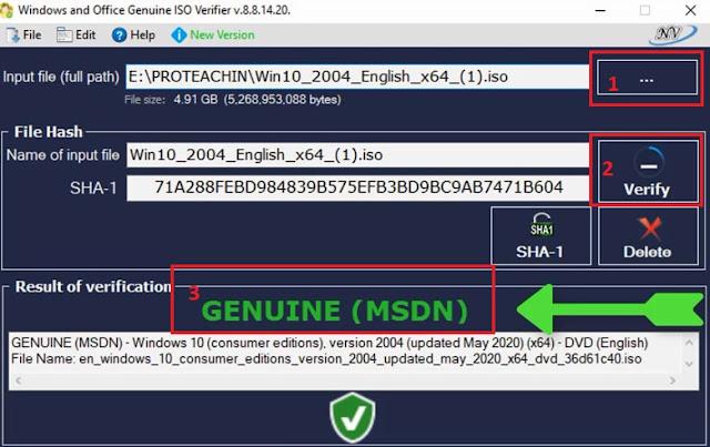 كيف تعرف نسخة ويندوز 10 التي حملتها من الانترنت هل هي أصلية أم معدلة verify windows 10 iso