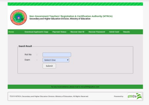 NTRCA result