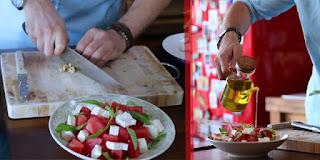 karpuz salata, karpuz salata tarifi, karpuz peynir salatasi, KahveKafeNet