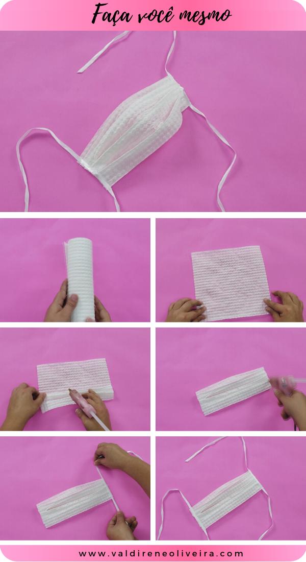 do it yourself -  mascara com papel toalha