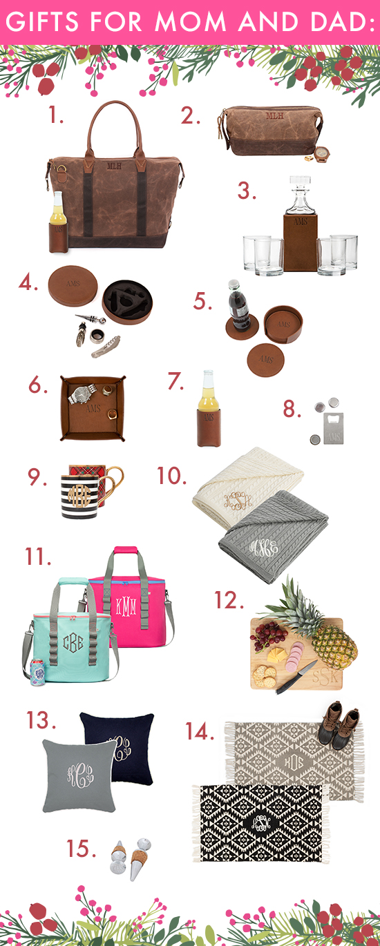 monogram gifts for him and her