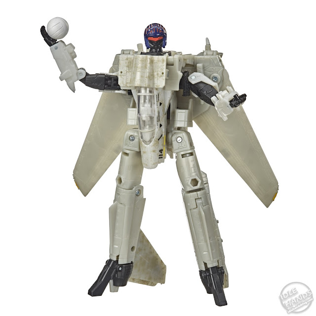 Hasbro Transformers x Top Gun Maverick Collab toy robot mode