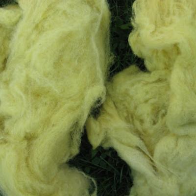 Wol geverfd met boerenwormkruid Atelier de Vier Jaargetijden