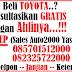 Promo Toyota September Ceria di Bogor