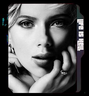 Greyscale Scarlett Johansson folder icon, Face icons, Celebrity, greyscale photo icon, Scarlett Johansson.