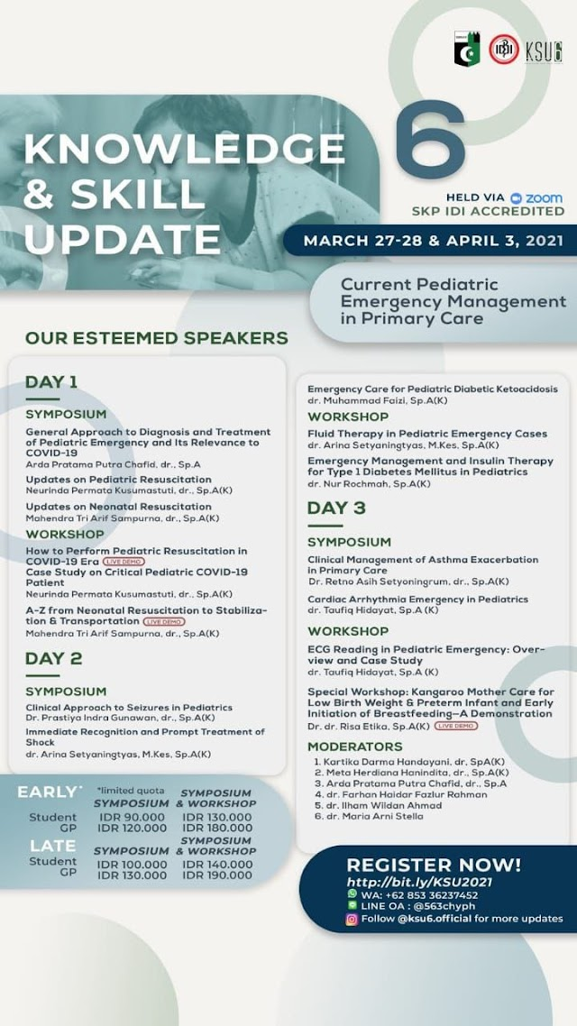 "Symposium and Workshop ""Current Pediatric Emergency in Primary Care"" (SKP IDI)"