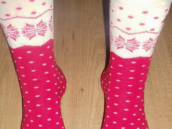 Loving My Christmas Socks Already.