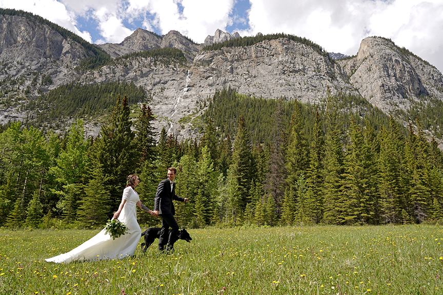 Simple & Elegant Banff Elopement