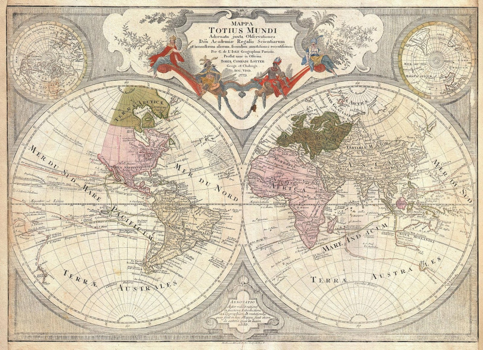 Ancient World Maps  World Map 18th Century World Map 18th Century