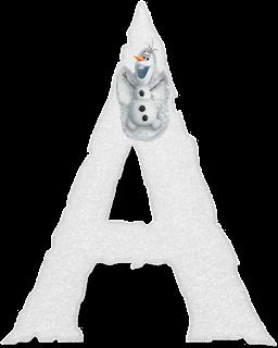 Abecedario de Olaf de Frozen Haciendo Ángeles en la Nieve. Olaf Making Snow Angels Alphabet.