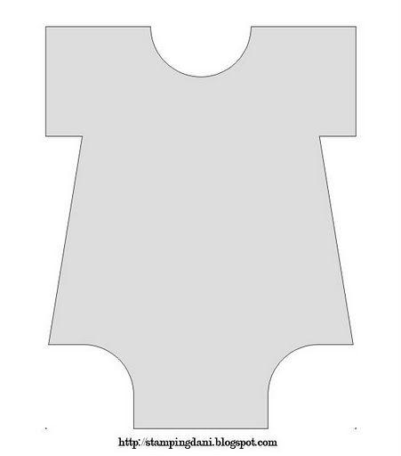 Plantilla de Body de Bebé para Invitaciones o Tarjetas.