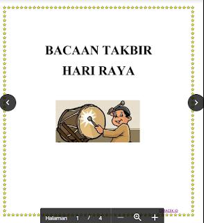 Download Bacaan Lafadz Takbir Hari Raya Versi Pendek & Panjang