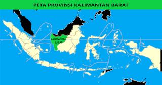 Peta Provinsi Kalimantan Barat