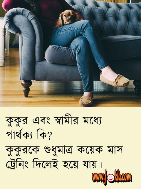 Dog vs husband question answer short Bengali joke